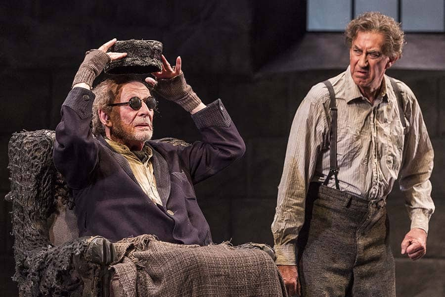 Alan and Barry McGovern in Beckett's ENDGAME, directed by Alan. Photo by Craig Schwartz.